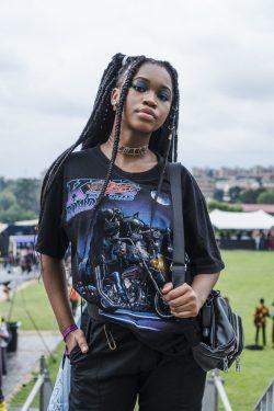 Afropunk goth look