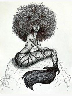 Majestic Melanted Mermaid