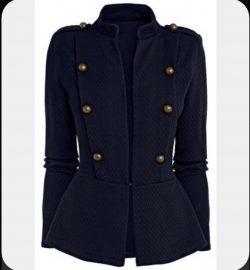 I love these military-style jackets for men & women.
