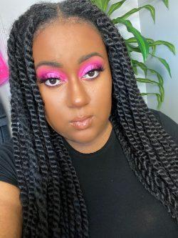 Pink eyeshadow look🌸
