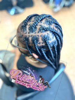 Knotless box braids Size- medium