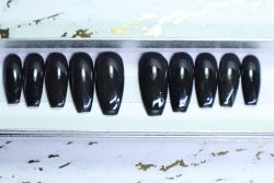 I'm Black | Custom Luxury Press-On Nails | False Nails | Handmade Press-On Nails |