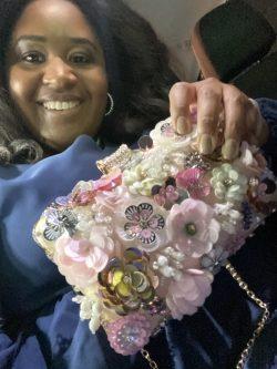 Alice in the wonderland clutch/purse