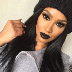 I love a dark lip!!