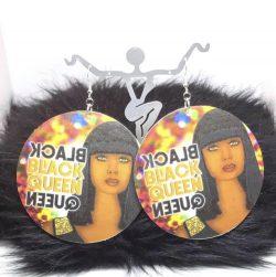 Black Queen Jumbo Sized Earrings