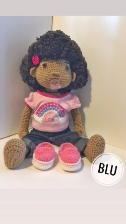 Custom 1st Birthday Doll. 1T Clothing Provided by client. Doll have an open mouth for pacifier a ...