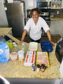 Young Black Men Cook