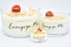 """Energize Me"" Crystal & Reiki Infused Soy Candle"