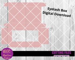 Eyelash Window Box Template Cut File