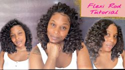 Flexi Rod Hairstyle On Natural Hair