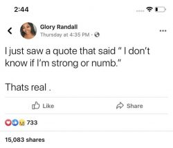 Strong or numb ?