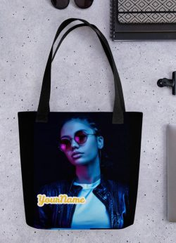 Cool Black / African American Girl / Woman on a Tote Bag