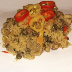 One Pot Chicken & Pigeon Peas Rice