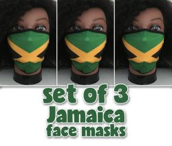 Jamaican flag face masks – soft and comfortable