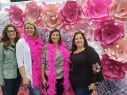 Southern Women's Show, Savannah GA. Paper Flower Wall