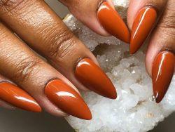 copper colored nails