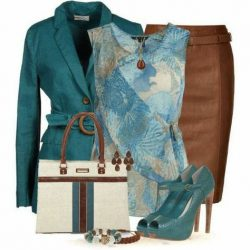 Turquoise and tan