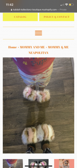Mommy and me Pom Pom slides at KaliDoll Kollectionz check it out https://kalidoll-kollectionz-bo ...
