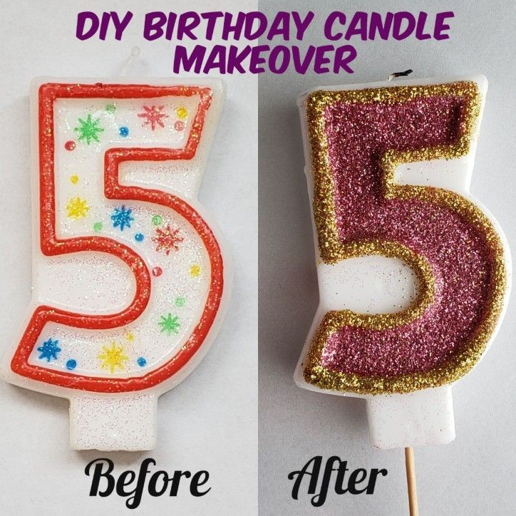 Diy Birthday Candle Makeover