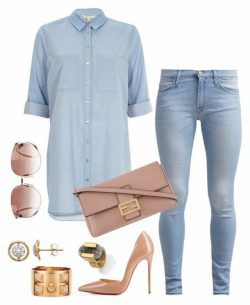 Blush denim