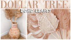 Dollar Tree Boho Leaves