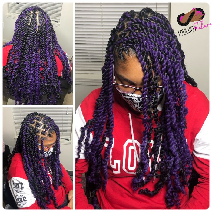 Purple and black passion twist