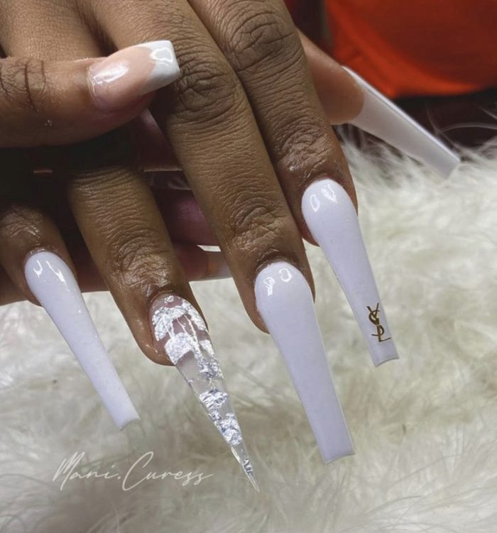 Long White Nails 🤍