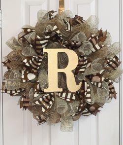 Polka Dot & Stripes Door Wreath