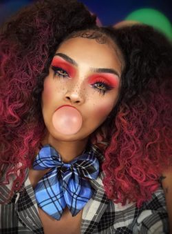 red eyeshadow 🎨 makeup