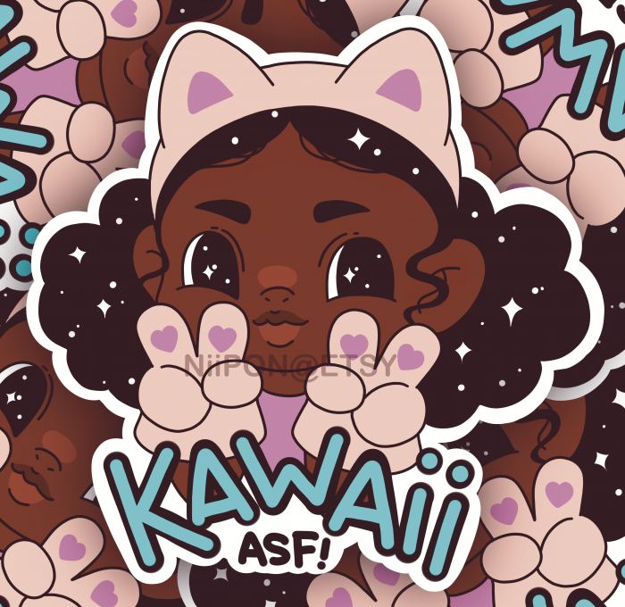 Kawaii ASF '3 Vinyl Sticker