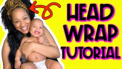 4 Easy Head Wrap Tutorial