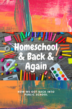 Back to Public School from Homeschooling