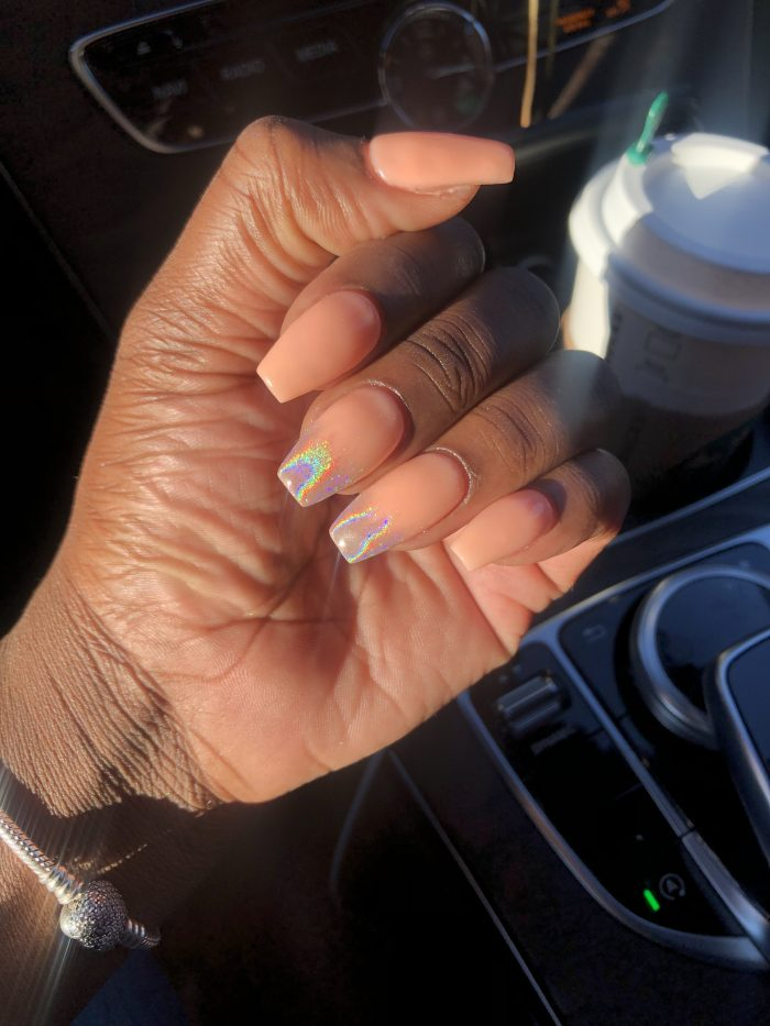 Iridescent ombre! Birthday nails
