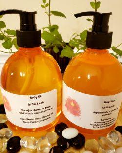 Body wash & body oil set