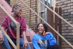 Blue Cropped Sweatshirt | Cropped Hoodie | Fashion | African Print Fashion | African Print Top | ...
