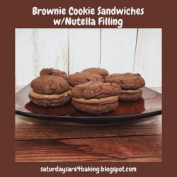 Brownie Cookie Sandwiches w/Nutella Filling