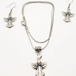 Angel necklace and earring set.