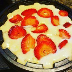 Strawberry Stuffed Waffle