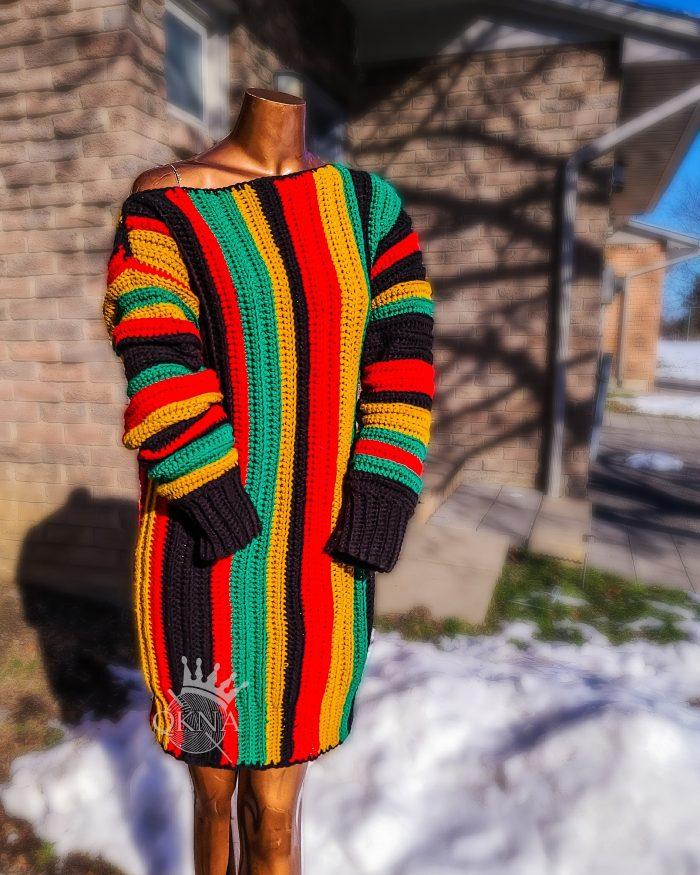 Whitney Oversized Crochet Sweater Dress