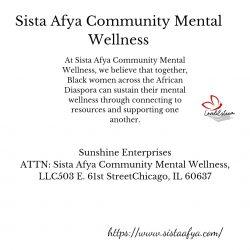 Sista Afya Community Mental Wellness