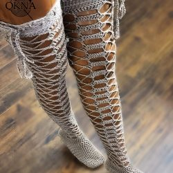 Lilly Lace Thigh High Socks