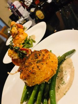 Stuffed Salmon with Crab meat