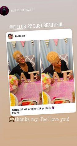 Bright golden blonde TWA