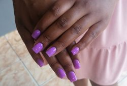 Purple acrylics