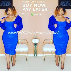 Sapphire Fitted Dress