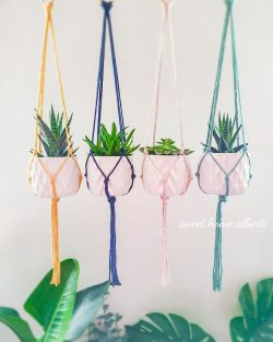 Plant Hangers in tons of beautiful colors by Sweet Home Alberti