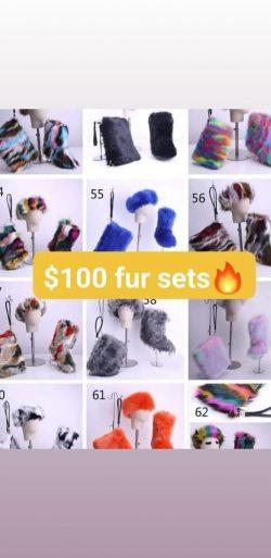 Fur boot set