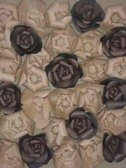 Leopard print Paper Flower Wall