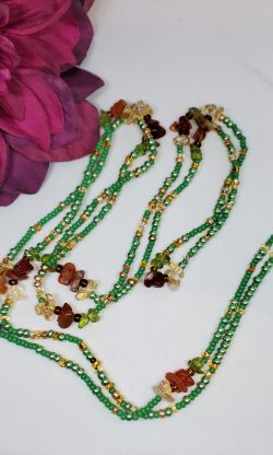Citrine & Red Carnelian Waist Beads