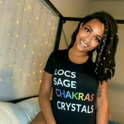 The Locs Sage Chakras Crystals Tee